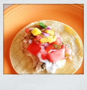 Fish Tacos. Mmm….Who knew healthy could taste so good!